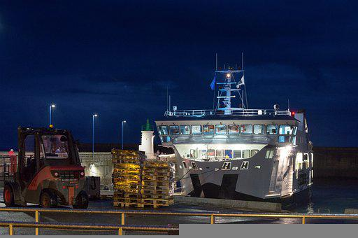 Port, Boat, Coast, France, Sea, Night