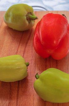Food, Vegetables, Pepper, Red, Green
