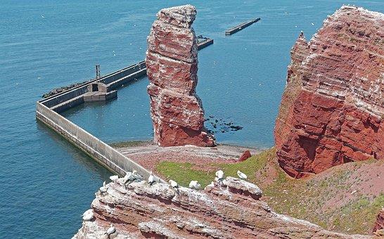 Helgoland, Lange Anna, Rock, North Sea