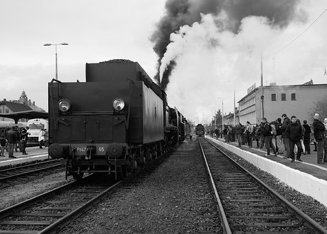 Wolsztyn, Train, Steam Locomotive, Tracks, Transport