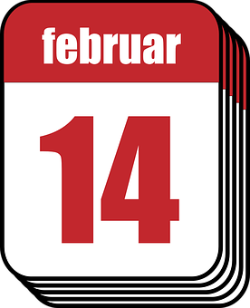 Calendar, February, Valentine, Valentine's Day