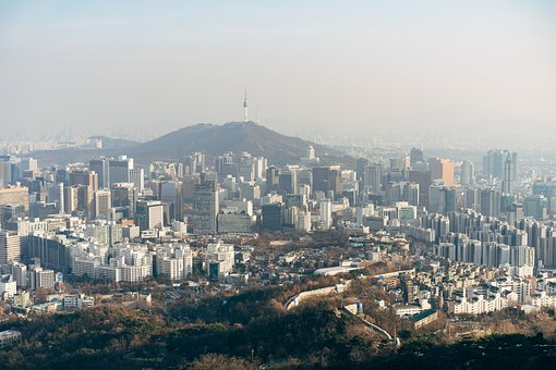 Asia, South Korea, Korean, Seoul, City, View, Panorama
