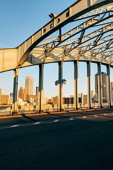 Asia, Japan, Japanese, Bridge, City, Road, Architecture