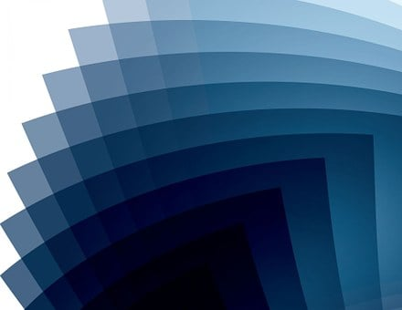 Blue, Background, Abstract, White
