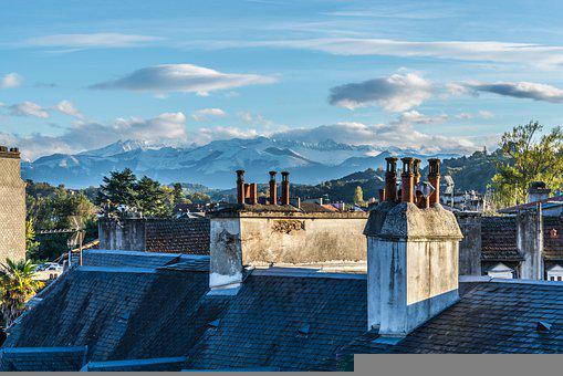 City, Roofs, Building, France