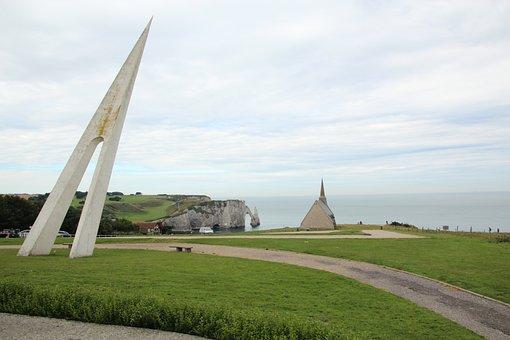 Memorial, Church, Coast, Beach, Remind