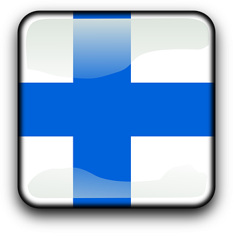 Finland, Flag, Country, Nationality, Square, Button