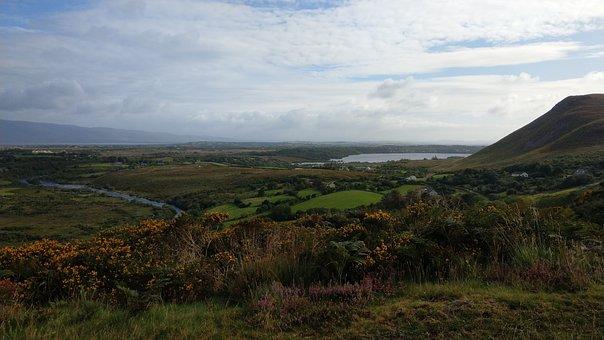 Ireland, Wide, Landscape, Hill, Scenic, Nature