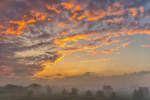 Morning, Sunrise, Summer, Landscape