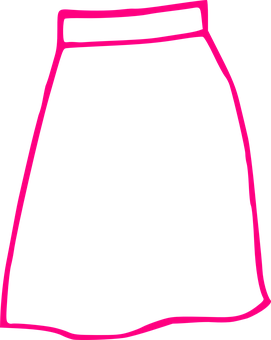 Skirt, Pink, Long, Outline
