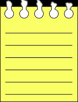 Notepad, Sheet, Blank, Spiral, Pad, Yellow, Paper