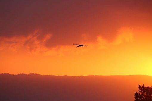 Inlemeer, Myanmar, Sunset, Nature, Asia, Silhouette