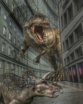 Dinosaurs, City, Terror