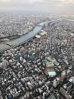 City, Japan, Sky Tree, Skytree, Tokyo, Tower, River