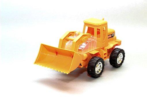 Wheel Loader, Plastic, Toys, Wheels