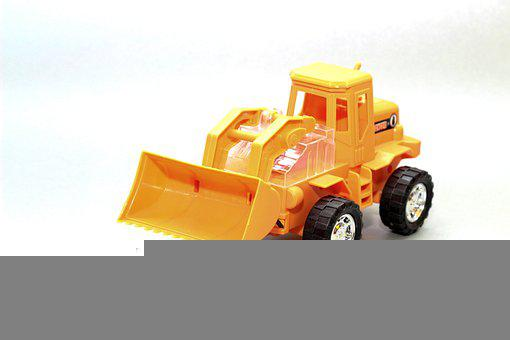 Wheel Loader, Plastic, Toys, Wheels, Auto, Vehicle