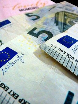 Euro, 5 Euro, Money, Currency, Dollar Bill, Bills