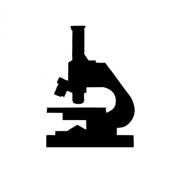Microscope, Black, Silhouette, Art