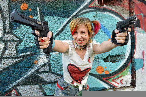 Harley Quinn, Cosplay, Comics, Marvel, Weapons, Gotham