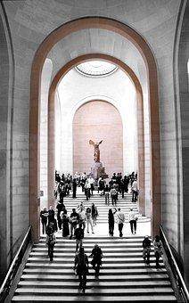 Louvre, Nike, Greek Goddess Of Victory, France, Museum