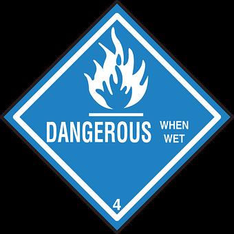 Safety, Wet, Warning, Hazard, Dangerous, When