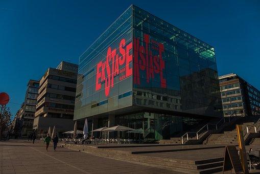 Building, Museum, Architecture, Stuttgart, Modern