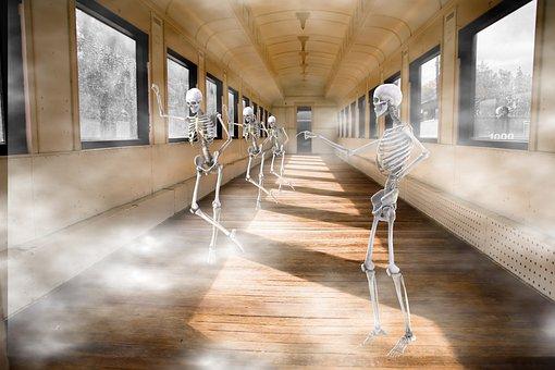 Composing, Train, Locomotive, Transport, Fog