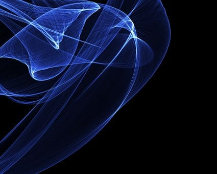 Modern, Art, Digital Art, Creative, Swirl, Ribbon, Blue