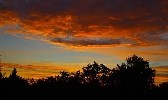 Nature, View, Landscape, Sunset, Dark