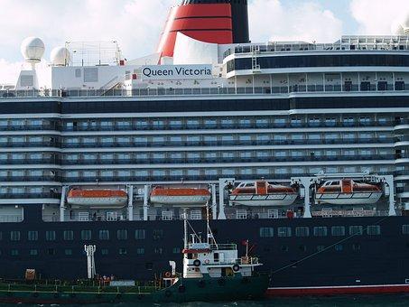 Queen Victoria, Cruise Ship, Ship, Close Up