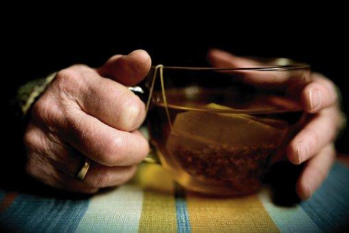 Hands, Old Hands, Seniors, Tee, Teacup