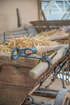 Hay Wagon, Wood Car, Antique, Agriculture, Faceplate