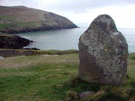 Celtic, Ireland, Stone, Menhir, Artifact, Cliffs