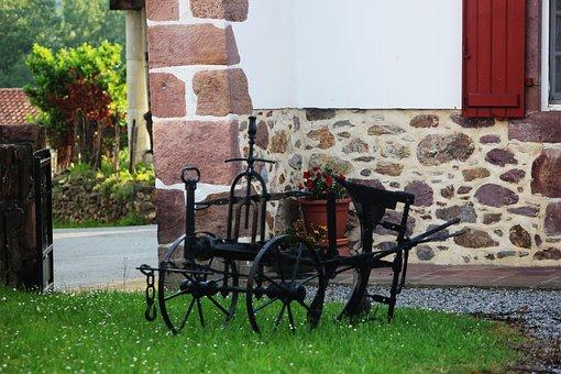 Cart, Oxen, Garden, Basque Country