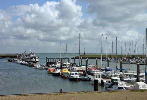 Port, Ships, Boats, Lake, Sea, Water, North Sea