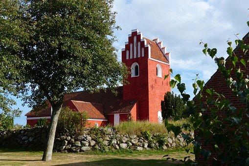 Church, Steeple, Religion, Brick, Red, Christianity