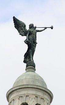 Statue, Wings, Sky, Dome, Bulding, Fairy, Angel