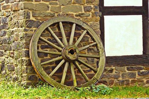 Wheel, Wagon Wheel, Cartwheel, Wooden Wheel, Wood