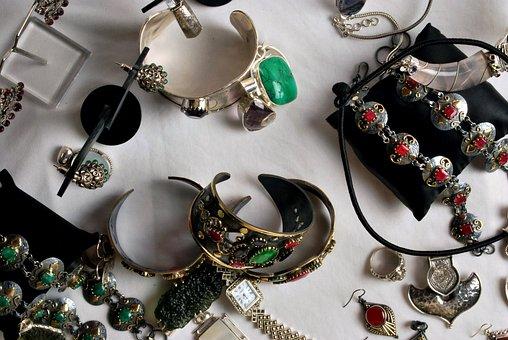 Chunky, Jewellery, Precious Stones, Gems, Emerald, Ruby