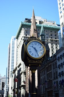 Clock, City, Architecture, Trump Bulding, New York