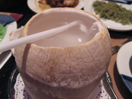 Coconut, Coconut Juice, Will Open A Coconut