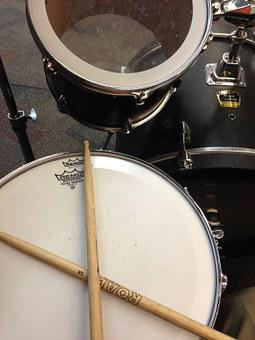 Drum, Drumsticks, Music, Instrument, Set, Stick