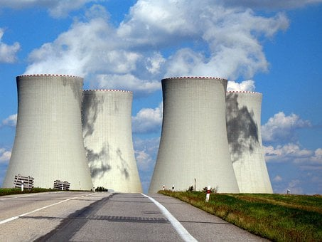 Chimney, Concrete, Nuclear, Cooling, Cylinder, Electric