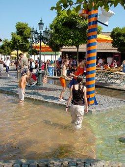 Wet, Fun, Water, Water Fun, Girl, Young, Youth