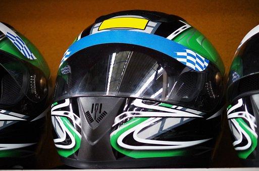 Helmet, Race, Go Karts