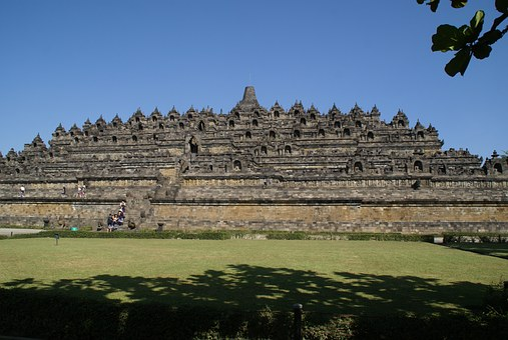 Asia, Indonesia, Java, Borobodur, Temple