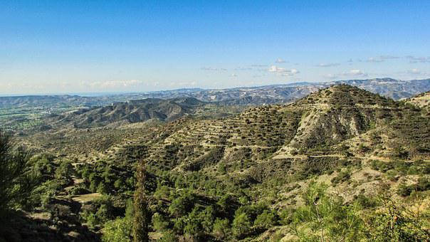 Cyprus, Troodos, Landscape, Mountains