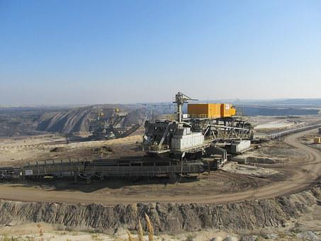 Open Pit Mining, Brown Coal, Lower Lusatia