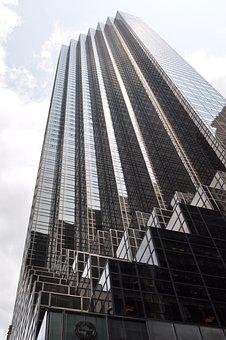 New York, City, Bulding, View, Aerial, Manhattan
