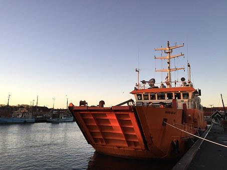 Ship, Port, Morning, Shipping, Maritim, Environment